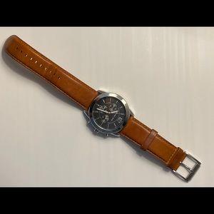Michael Kors 🤎 MK Watch Silver w Leather Band